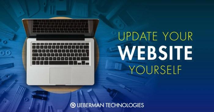 update your website yourself