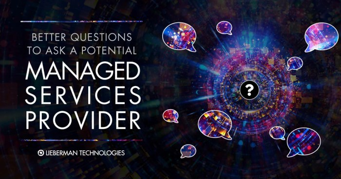Questions to ask a Managed Service Provider