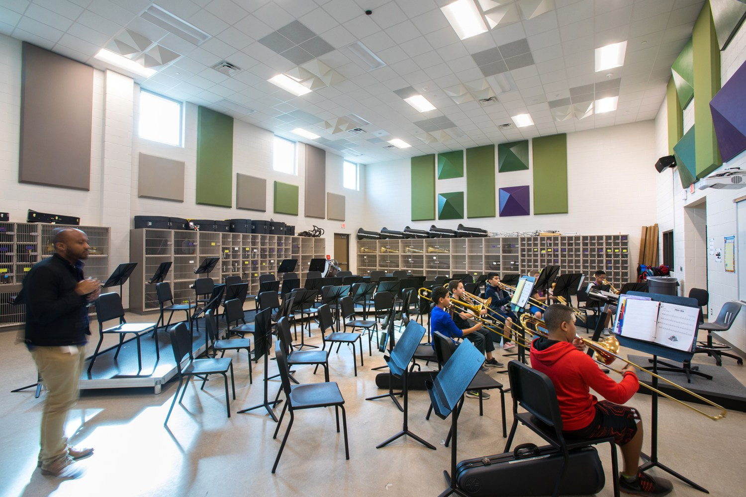 Ronald Thornton Middle School - Band room
