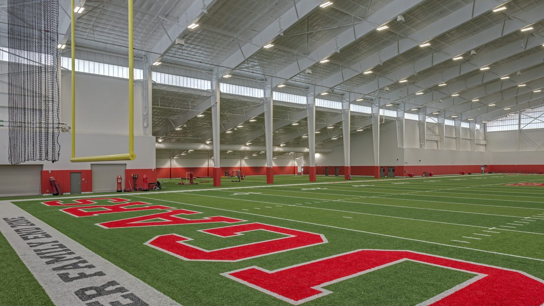 University of Houston Indoor Football Facility - End zone