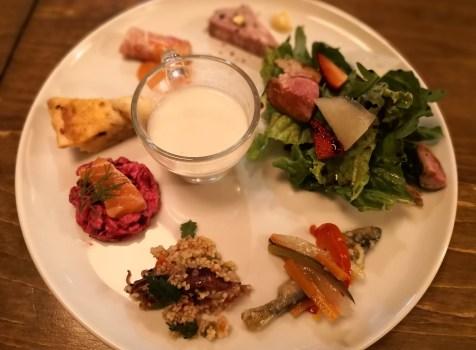 【駒澤大学】Rikka@前菜の盛り合わせが嬉しい!ほっこりとする街のビストロ。