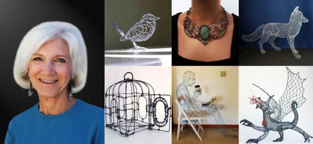 Varias creaciones hechas con el 3D Doodler  por la artista Ruth Jensen