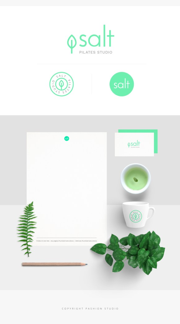 salt pilates studio logo design branding