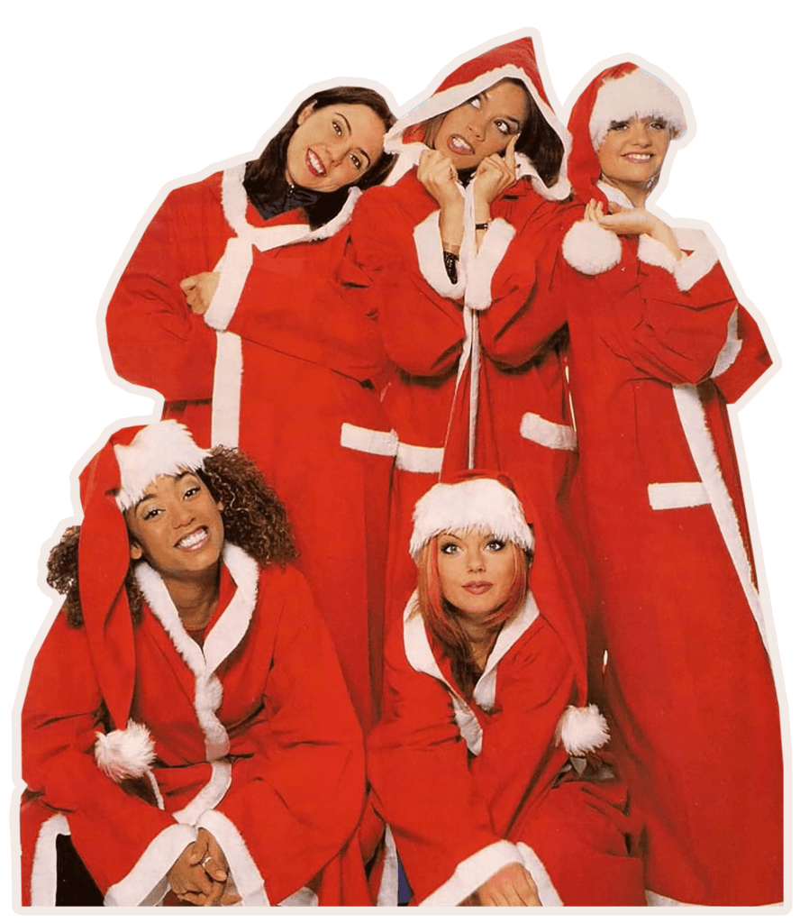 spice girls fun christmas card natal
