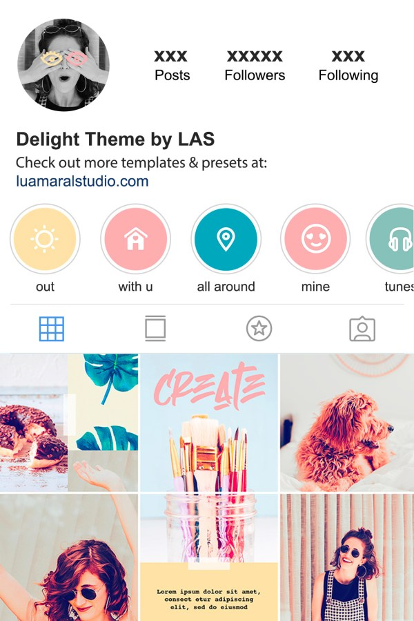 instagram-puzzle-feed-theme-colors