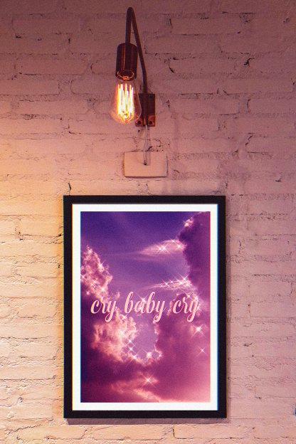 AESTHETIC-POSTER-pink-scky-glitter-cry-baby-cry