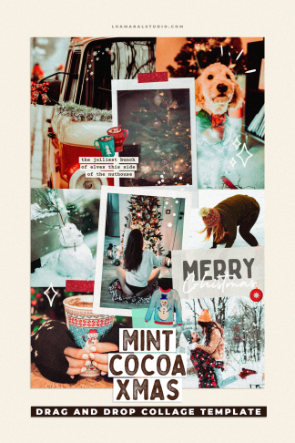christmas-aesthetic-collage
