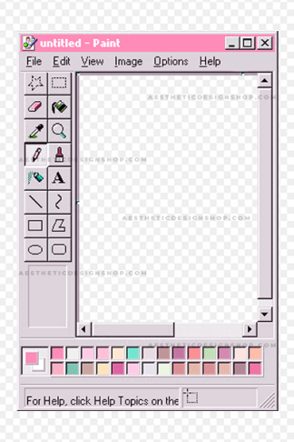 Pink Aesthetic Paint Window PNG Frame