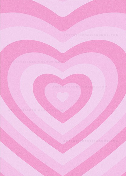 Pink aesthetic heart background image