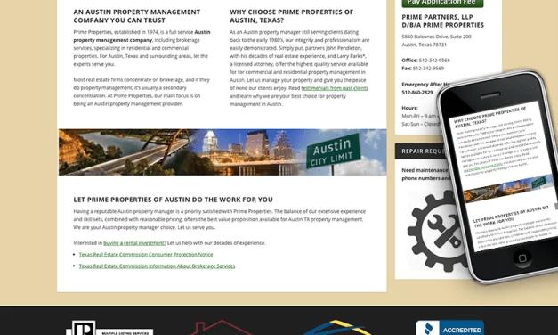 Prime Properties of Austin Website Rebuild