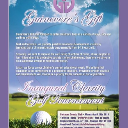 Poster for Guinevere's Gift Charity Golf Tournament