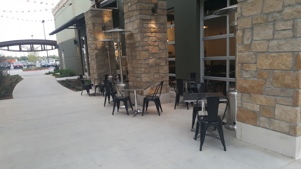 Patio with heaters