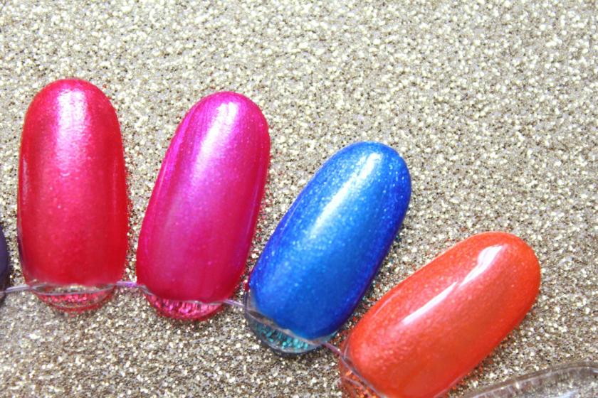 AVON MAGIC EFFECTS NEON Nagellacke - red shock - striking pink -electric blue - orange blaze