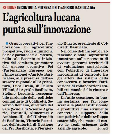 AGRIGO gazzetta 13 11 2015