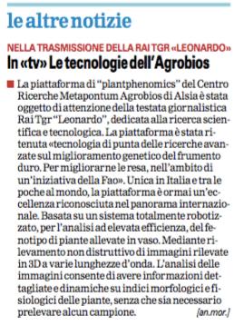Agrobios gazzetta 26 11 2015