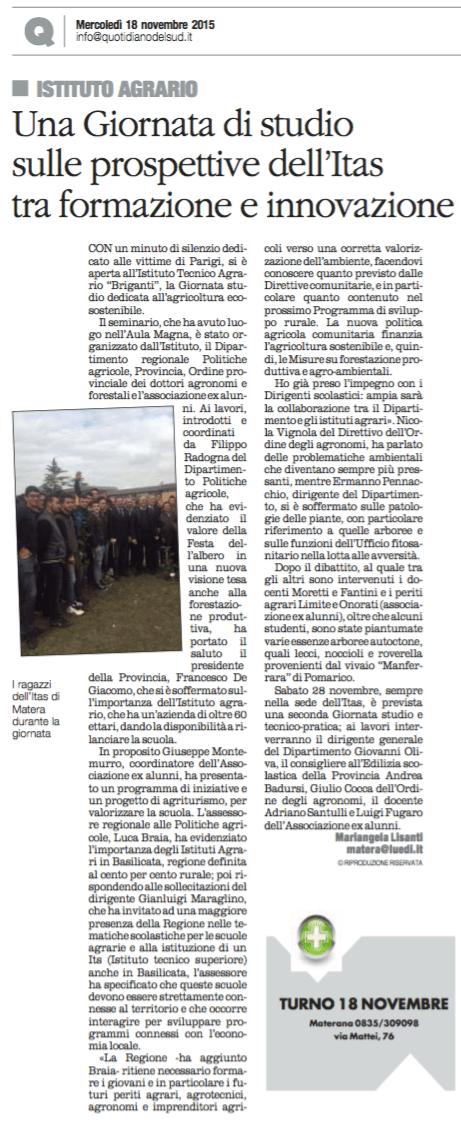 ITAS quotidiano 18 11 2015
