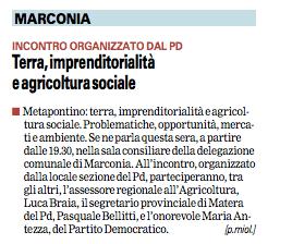 MARCONIA gazzetta 27 11 2015