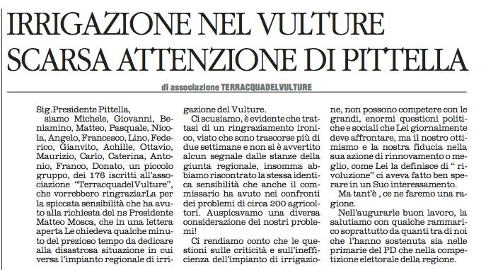 irrigazione vulture quotidiano 03 12 2015