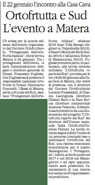 ortofrutta quotidiano 12 01 2016