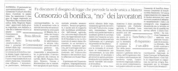 CONSORZI quotidiano 12 05 2016