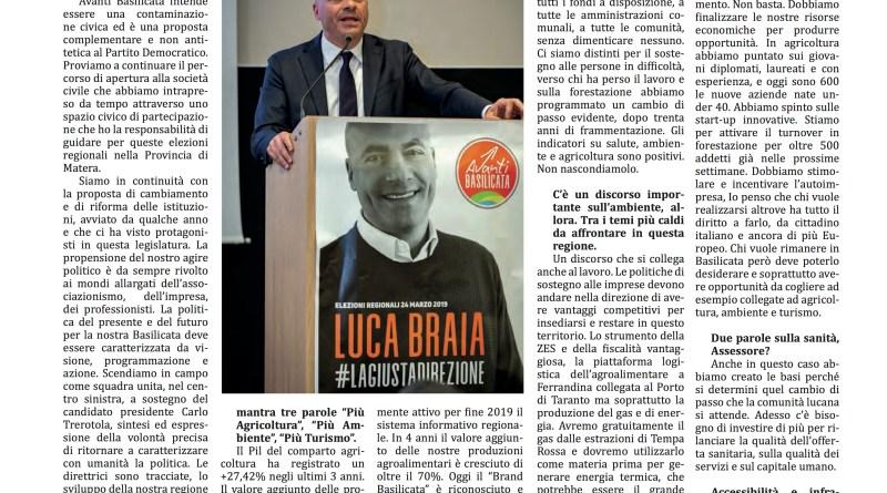 Intervista a Luca Braia candidato Lista Avanti Basilicata #RegionaliBas2019 – Il Mattino di Foggia