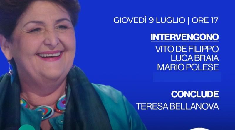 Il Ministro Teresa Bellanova incontra la Basilicata. Confronto online organizzato da Italia Viva
