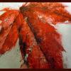 2007 - Pittura lavabile su legno rivestito in foglia argento 29x22. Water paint on silver leaf on wood 29x22.