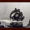 2008 - Pittura lavabile su legno rivestito in foglia argento 33x14. Water paint on silver leaf on wood 33x14.