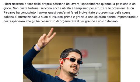 Luca Pagano: dal Commodore 64 a Hearts & Spades, 20 anni di videogame – Pokerstars, 2016