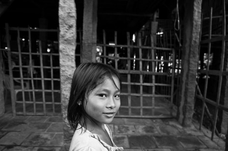 A young girl in a remote village near the border with Cambodia. She is the perfect target for trafficking and the ADAPT program is helping these girls. Vietnam. 2007