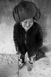 An old H'Mong woman in a village near Sapa. Vietnam. 2007