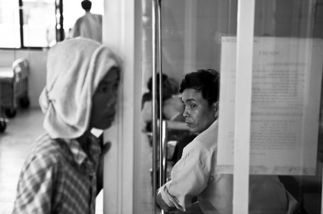 In the burn victims ward of the new hospital in Danang. Vietnam. 2007