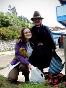 La vecchietta di Cotabambas insieme a Valentina