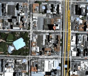 localização do apartamento transformado