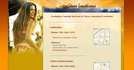 Sun Splash Tanning Centers - Locations Page
