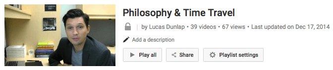 Click here to see a sample video lecture from my Philosophy & Time Travel online course