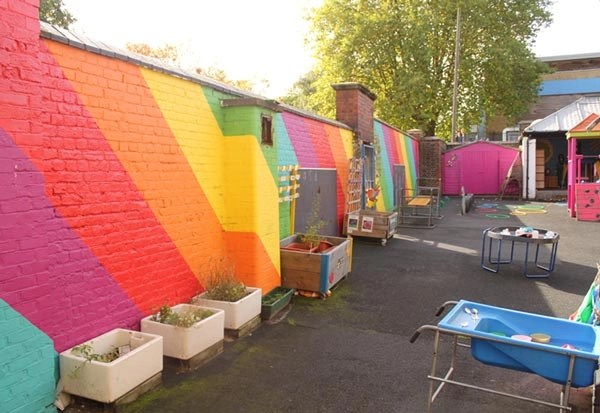 Brightly coloured area for the children