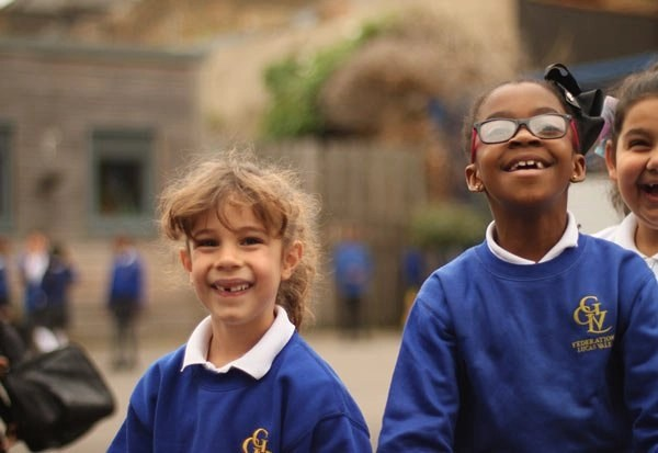 Happy children in the playground