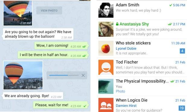 Telegram messenger, tutto quello che manca a WhatsUp!!