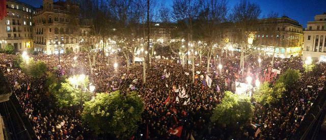 Imagen de la manifestación de Sevilla