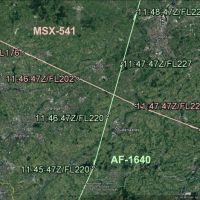 Serious incident above Ghent (near miss between Egyptair Cargo A306 and Air France A320)
