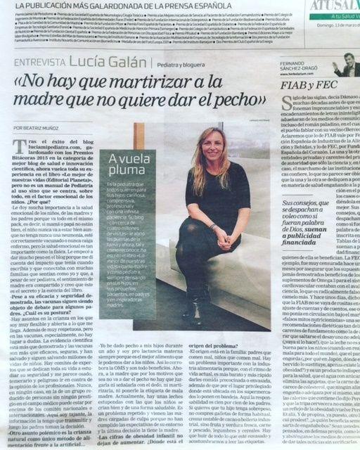 Entrevista a Lucía Galán. La Razón