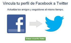 Vincula tu perfil de Facebook a Twitter