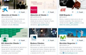Cuentas en Twitter dedicadas a la Atención al cliente
