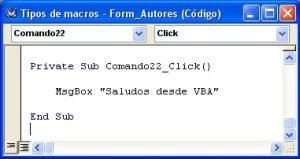 Macro programada con VBA