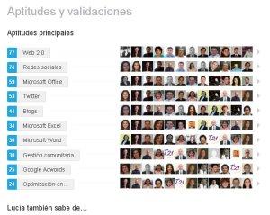 Aptitudes y validaciones en LinkedIn
