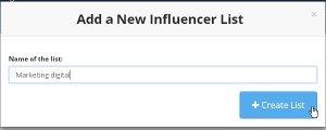 New influencer list con Buzzumo