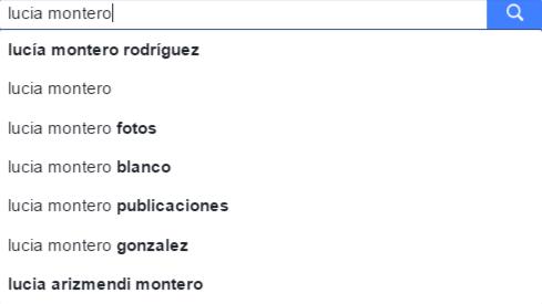 Sugerencias al buscar en Facebook