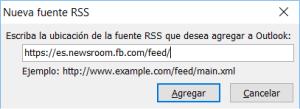 Nueva fuente RSS en Outloos