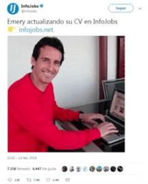 Emery actualizando su cv en Infojobs